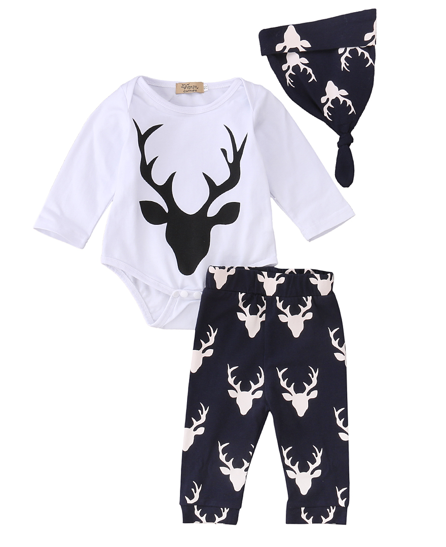 Newborn toddler infant baby girls boy deer printed casual for T shirt printing for babies