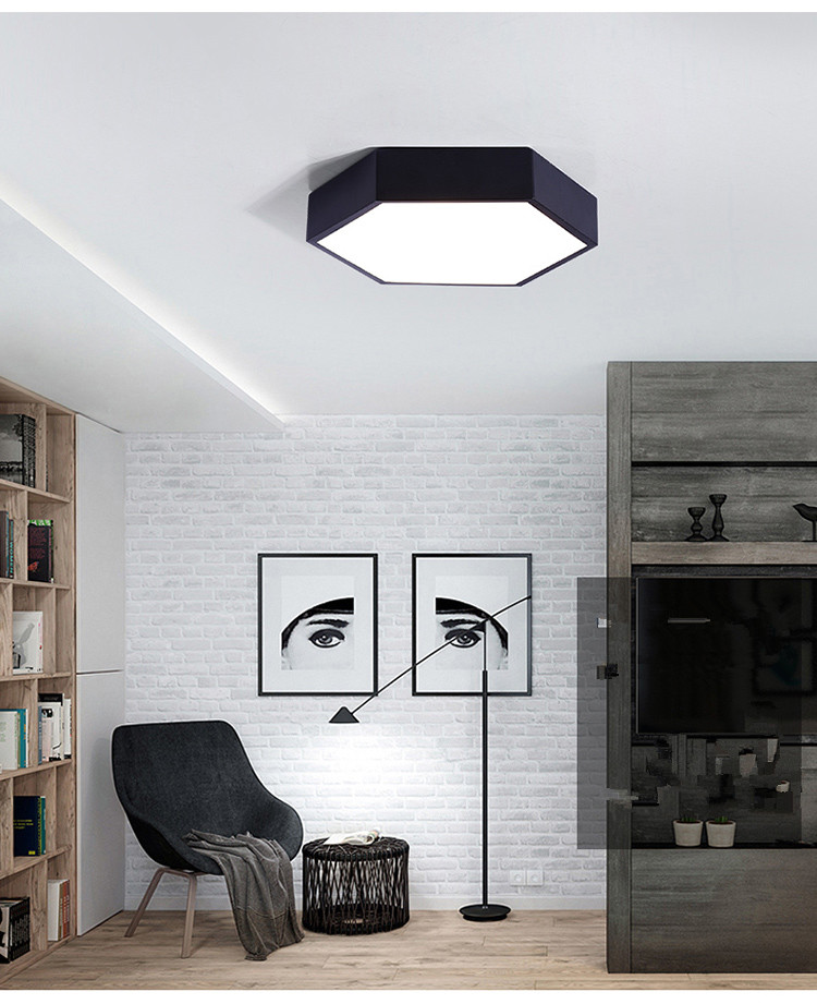 HTB1mfyhe1SSBuNjy0Flq6zBpVXaN Ultrathin LED modern ceiling light hexagon Iron Acrylic indoor lamp kitchen bed room porch decoration light fixture AC110-265V