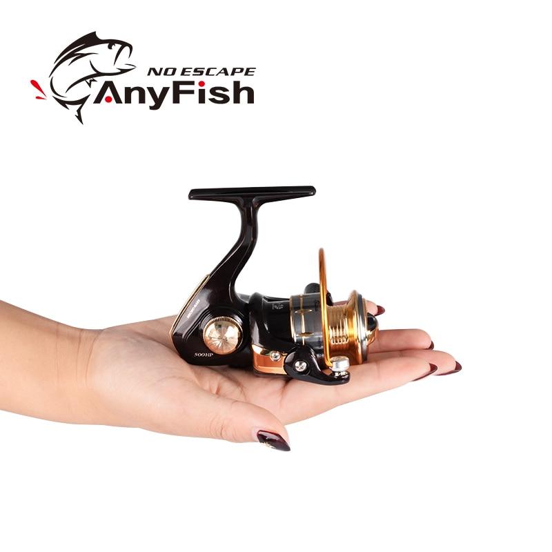 ANYFISH MICRO BAIXO 500/800 carretel de pesca spinning reel mini spinning pesca carretilha carretilhas de pesca pequeno carretel de Pesca De Gelo do Inverno