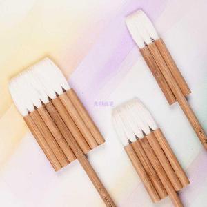 Image 2 - 2690 3PCS/set goat hair carbonated bamboo handle watercolor artist art supplies paint brush