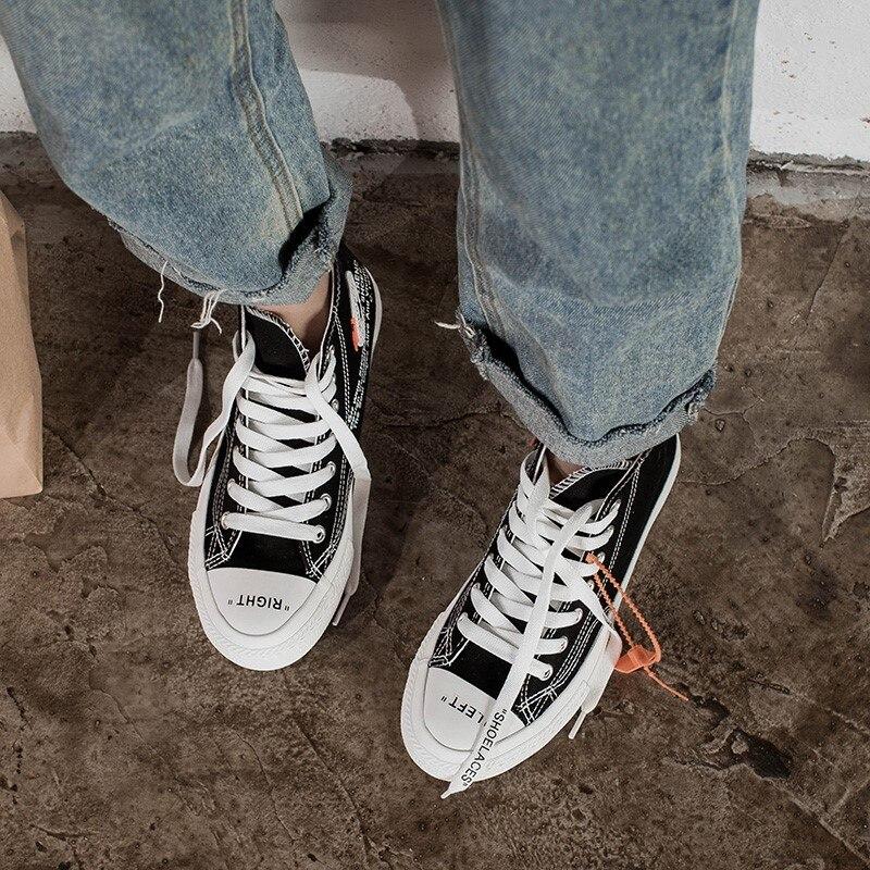 Random gifts Femmes Polyvalent Noir 2018 Tendance La Nouvelle Confortable Skate Delive Automne De Chaussures Mode Toile Plat Chaussures Casual blanc xTzqwBU