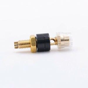 Image 3 - 10 piezas TERMINAL de altavoz Mini Latón chapado en oro amplificador Banana de Jack hembra conector de Audio HiFi DIY