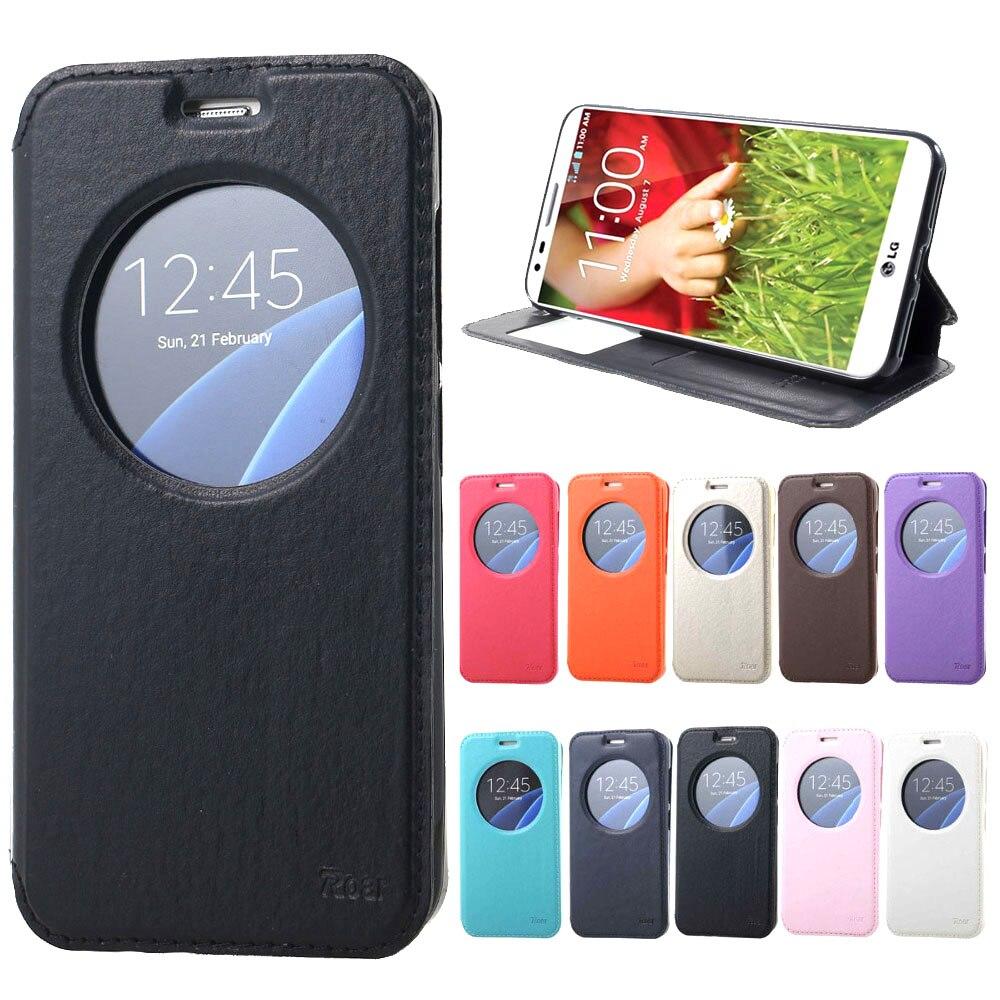 Roar Korea Noble View Window Leather Flip Cover wallet Case For Lg G3 case D831 VS985 LS990 F400K D855 D850 D858 D859 D857 cases
