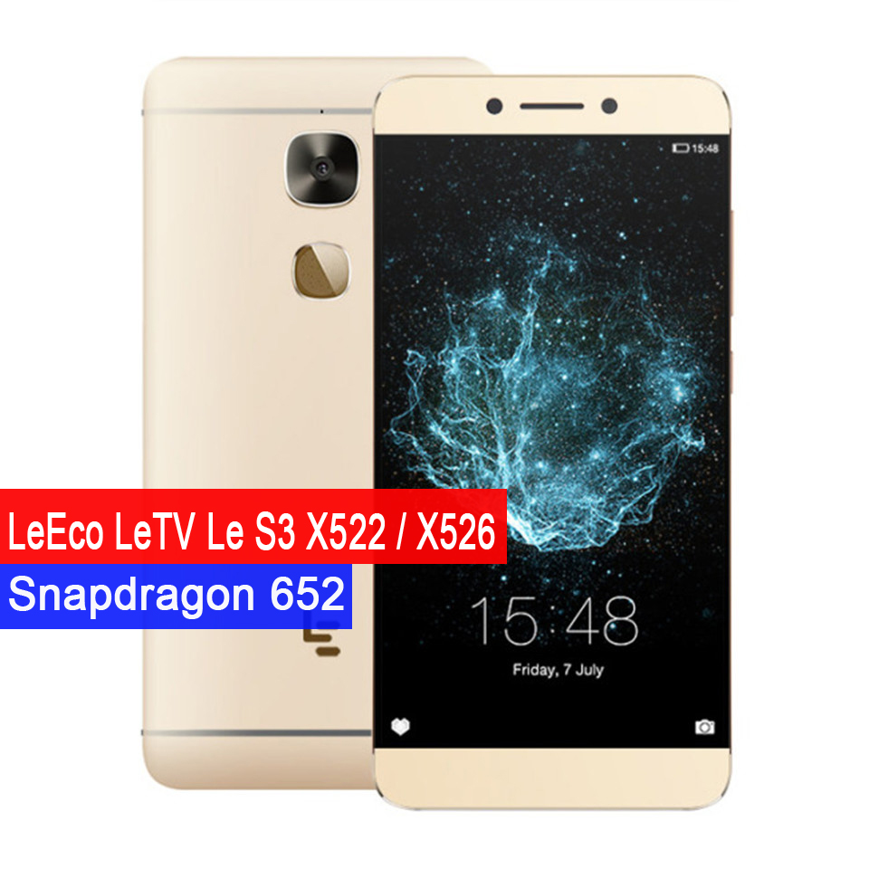 LeEco LeTV Le S3 X522 X526 5.5 Inch Octa Core Snapdragon 652 3GB RAM 32GB ROM 16.0MP Android 6.0 3000mAh 4G LTE Mobile Phone