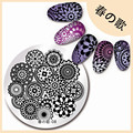 1Pc Round Floral Nail Art Stamping Template Flower Design Nail Image Plate Manicure Nail Art Stamping Plate