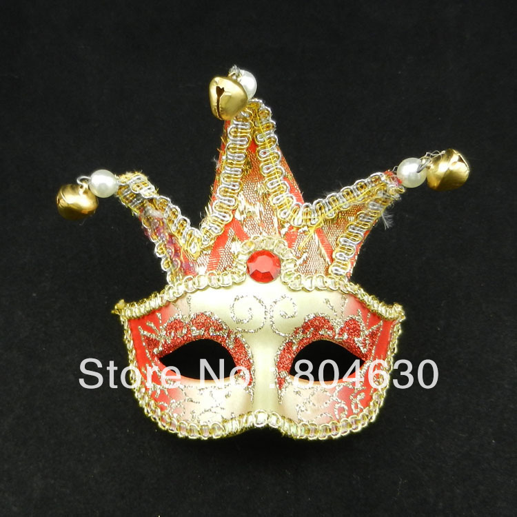 triangle ring mini mask halloween decoration Birthday party supplies novelty gift 20 EMS mix color - Caly Tao's store