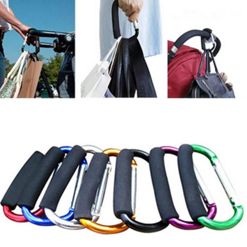 1Pcs Large D Character Carabiner 14*8cm Camp Hook Aluminum Alloy Climbing Accessories Soft Handle Universal Shopping Hooks
