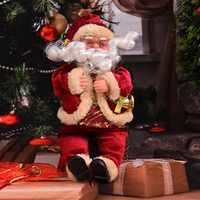 Товары на новый год, кукла Санта-Клаус для дома, рождественский подарок, фланелевые игрушки, рождественские украшения для стола, navidad