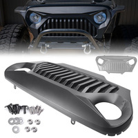 Car Front Grill Grille Angry Bird Fit Jeep Wrangler TJ 1997 1998 1999 2000 2001 2002 2003 2004 2005 2006 Matte Black