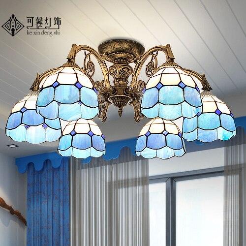 style lamp Mediterranean led living room lamp atmosphere suction dome light garden restaurant bedroom room lighting