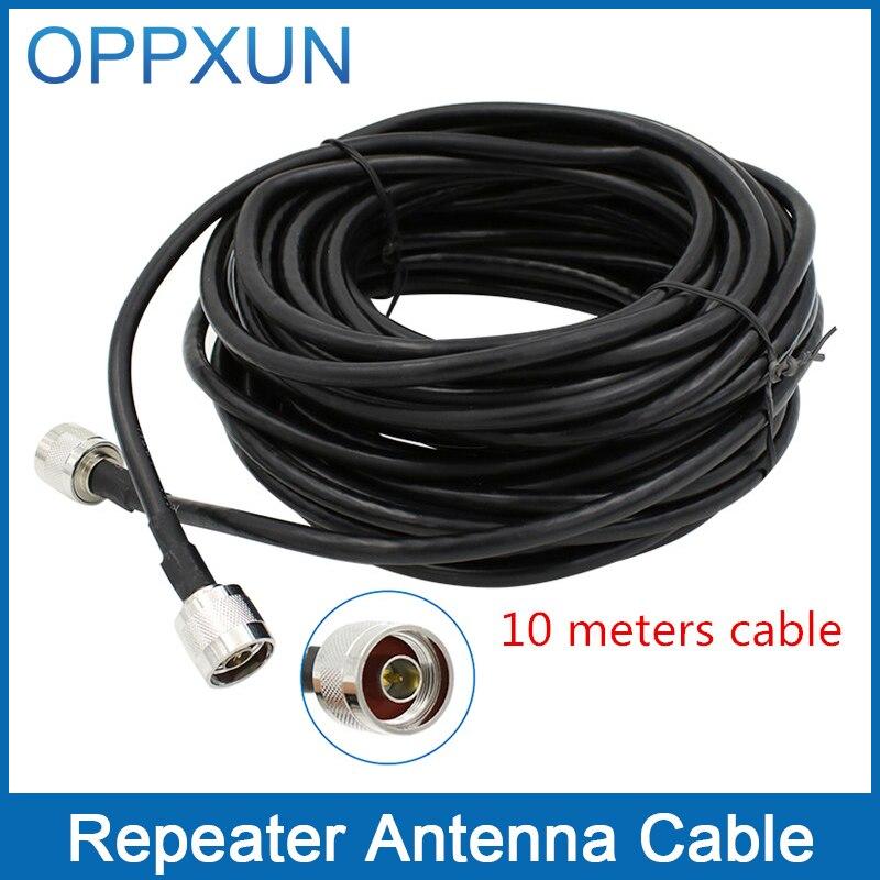 imágenes para Cable de refuerzo repetidor cable de antena y antena de interior al aire libre con conector N macho cable coaxial de 10 metros