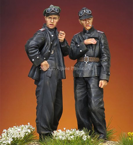 DIY TOYS Resin Kits 1 35 German Waffen SS tank crew include 2 soldiers Unpainted Kit