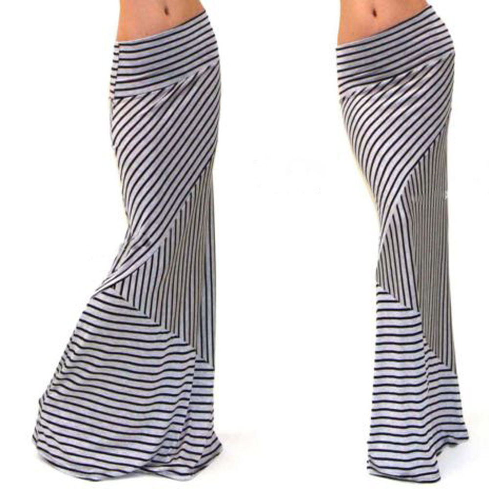 Compare Prices on Long Striped Maxi Skirt- Online Shopping/Buy Low ...