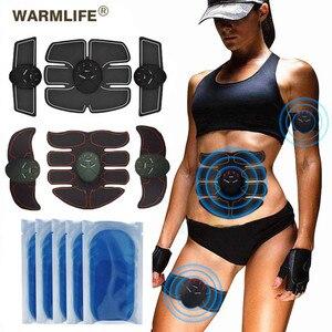 2019 EMS bezprzewodowy stymulator mięśni brzucha taśma tonująca wzmacniacz mięśni umięśnione ciało Fitness trener dla brzucha ra(China)