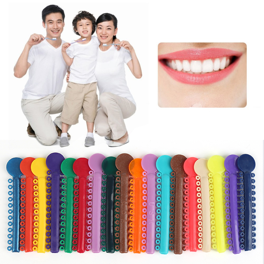 Y&W&F 1Pack 40Pcs Oral Teeth Care Dental Ligature Ties Orthodontics Elastic Multi Color Plastic Bands For Health Teeth Tools