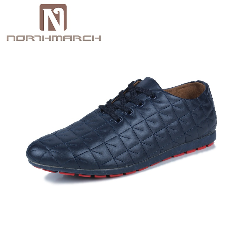 NORTHMARCH Spring/Autumn Shoes Men Lightweight Casual Leather Men Shoes Lace Up Breathable Flat Shoes Men Sapato Masculino Couro