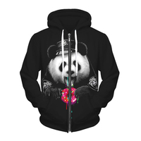 LittleNN 3D Animal Fashion Black Panda Hoodie Sweatshirt Autumn Clothing Men Pullover Funny Loose Hip Hop