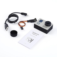1pcs Silver 4K 24FPS 16MP HD Action Sports Camera FPV For FIREFLY 6C Sliver Black