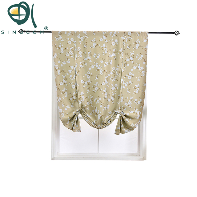 Sinogem Thermal Insulated Blackout Curtain Kapok Design Tie Up Shade