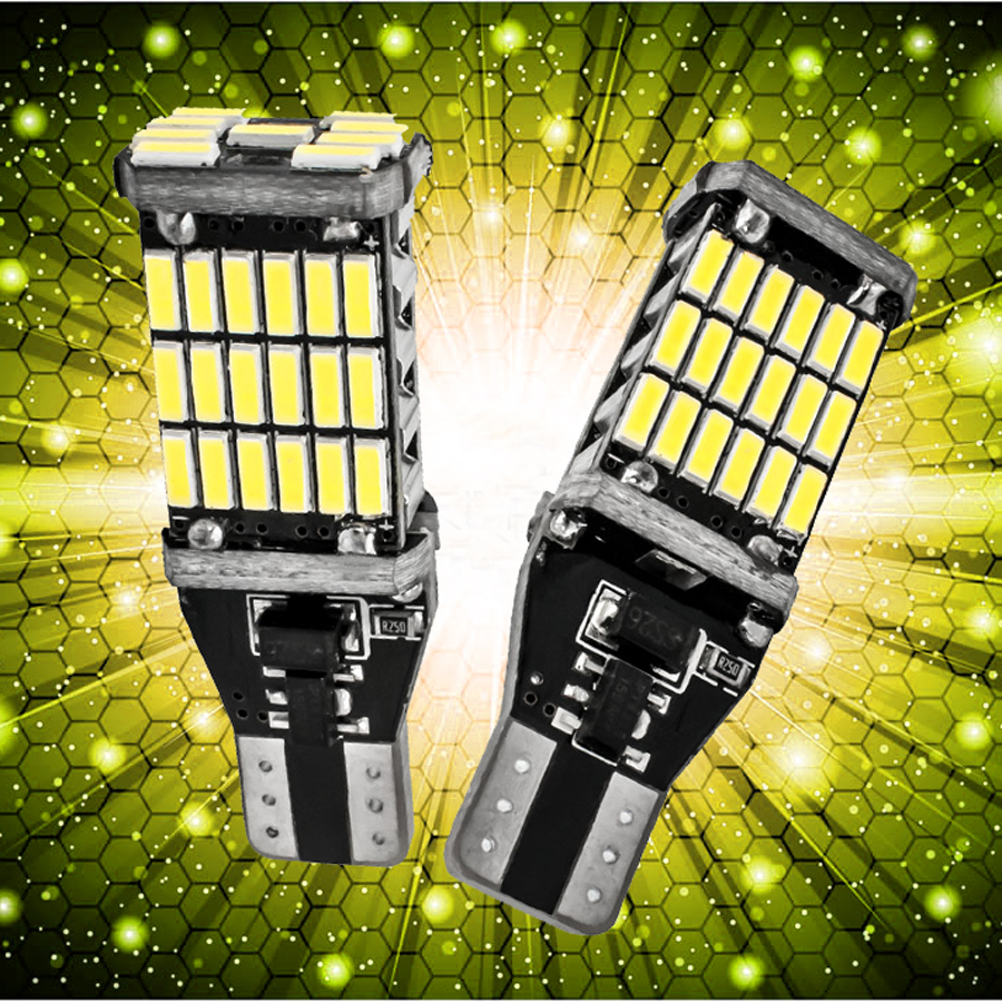 2x Car Led Super Bright T15 W16W 45 SMD LED 4014 Car Auto Canbus Marker Lamps Reading Light auto room Lighting Bulb new arrival canbus p6 car led head lamp conversion kit bulb 4500lm 2 9000lm led headlight super bright 45w 2 90w car styling