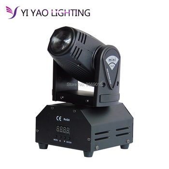 Led Stage Lighting DMX Channel 11CH Or 13CH Small LED moving beam 10W rgbw colours  Moving Head Lighs