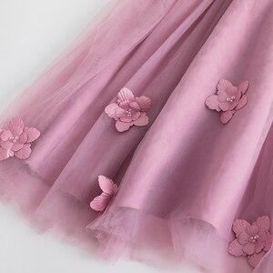 Image 4 - Cielarko ילדי ארוך נסיכת שמלת 2019 חדש ילד בנות חתונה יום הולדת פורמליות המפלגה שמלת כדור שמלה סגול לבן 2  11 שנים