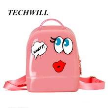 Брендовые женские силиконовые трехмерные наклейки рюкзак новая мода высокое качество желе сумки женские повседневные милые детские сумки