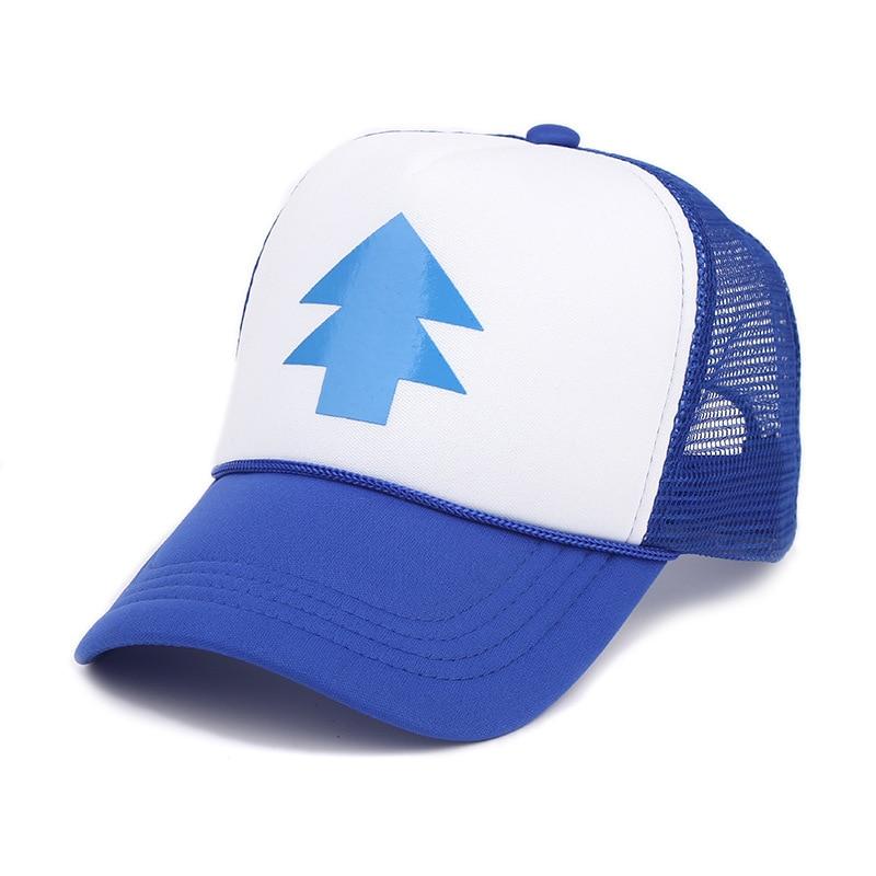 Unisex Outdoor Bill BLUE PINE TREE Dipper Gravity Falls Cartoon Blue Golf Cap hats