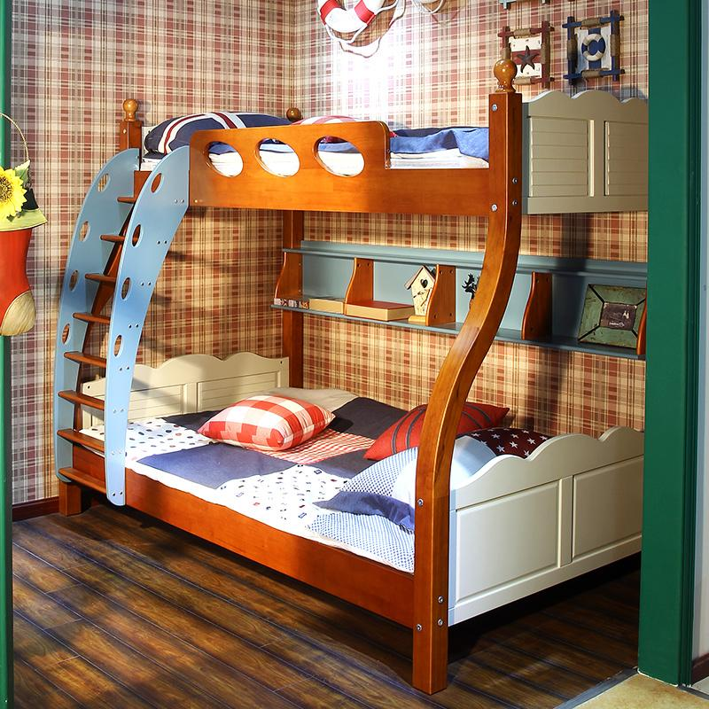 Todo de madera maciza cama litera litera de dibujos - Literas infantiles de madera ...