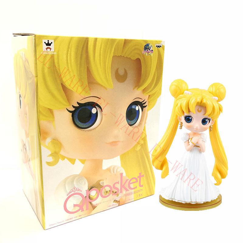 "Q Posket Sailor Moon Japan Anime 7/"" Action Figure 20th Anniversary Edition Gift"