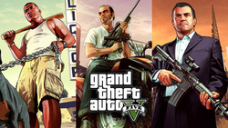 Grand Theft Auto V Art Silk Print Fabric Poster Game Hot GTA 5 Images for Wall Home Decoration Canvas Poster Print 40X70 Cm