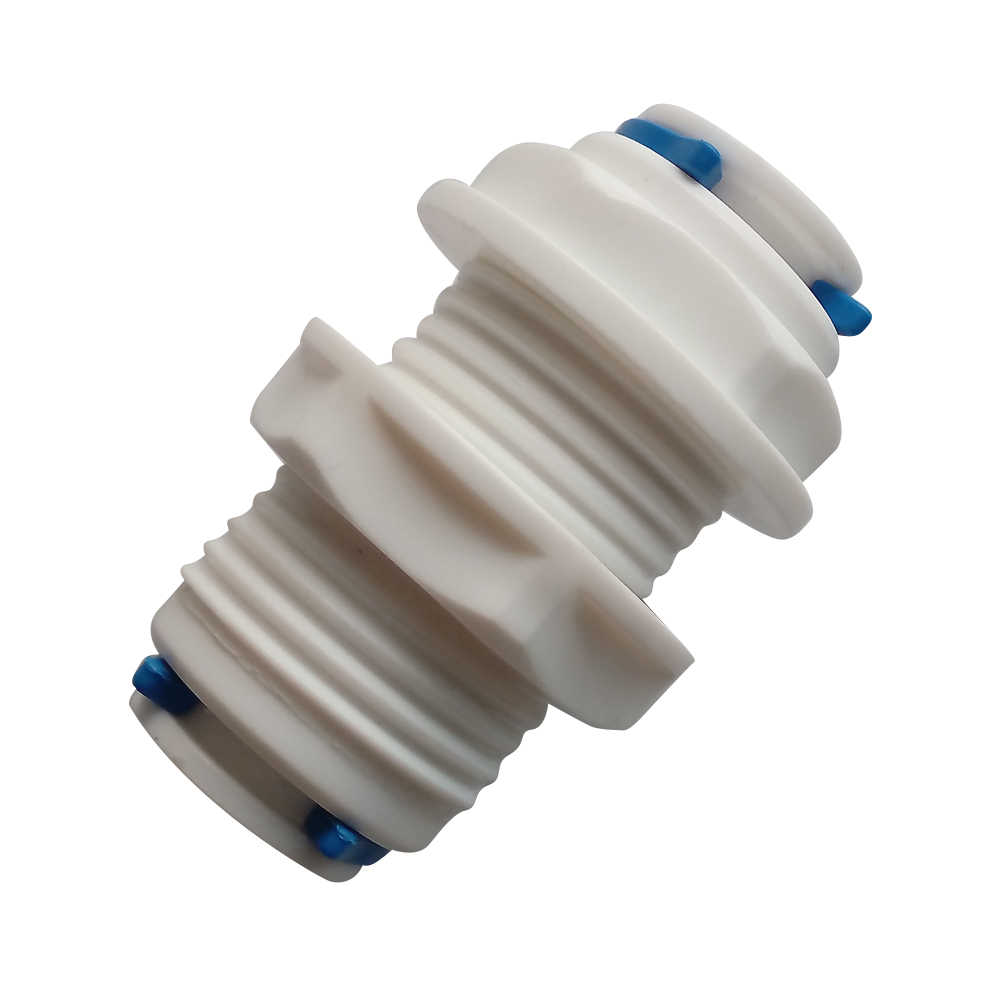 "1/4""(6.35mm)  3/8""(9.52mm) OD Tube RO Water Straight Bulkhead Fittings Quick Connector RO Water System"
