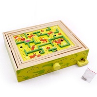 Fly AC Wooden Labyrinth Puzzle Maze Game Education toys for children Birthday Gift