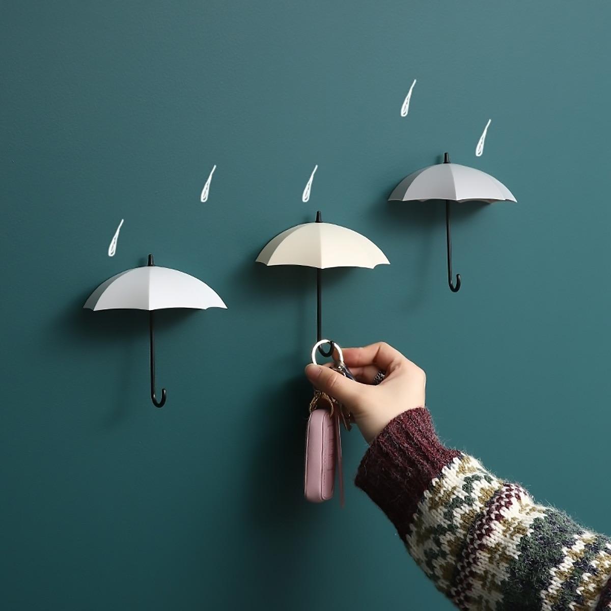 3 uds gancho de almacenamiento en forma creativa ganchos de pared simples decorativo pequeño hogar Decoración de pared gancho clave colgador para pinzas del pelo
