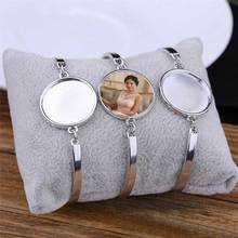 Bracciali per le donne di modo di trasferimento di calore di sublimazione in bianco dei monili del braccialetto bianco di consumo forniture Nuovo arrvial 15 pezzi/lottp