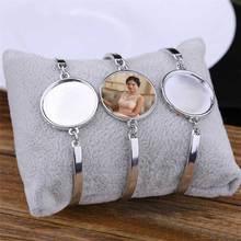 Bracelets à transfert de chaleur, sublimation, bijoux dans le blanc, fournitures de consommables, nouveau modèle bracelets pour femme, 15 pièces/lot