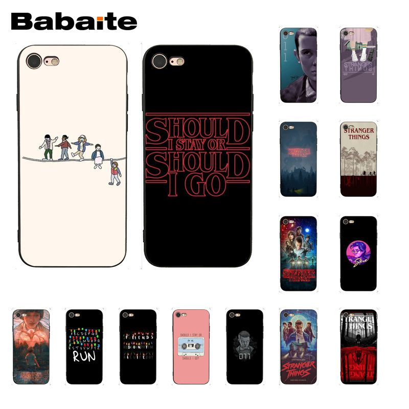 Babaite TV <font><b>Stranger</b></font> <font><b>Things</b></font> <font><b>Phone</b></font> <font><b>Case</b></font> for <font><b>iphone</b></font> 11 Pro 11Pro Max 8 7 6 6S Plus X XS MAX 5 5S SE <font><b>XR</b></font> image
