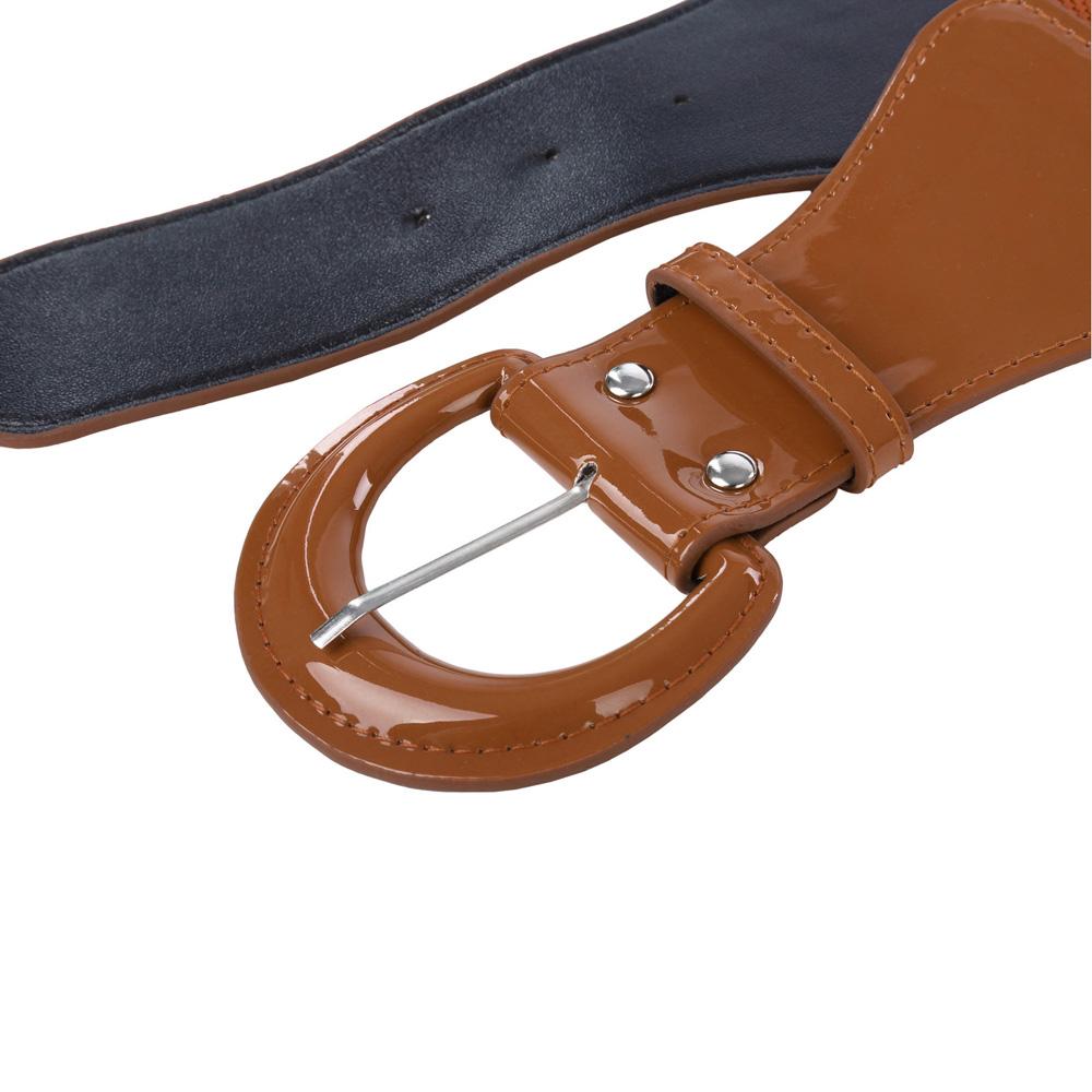 2018 nueva llegada de la moda del corsé correa para mujer adelgazamiento  cuerpo cuero pu lujo cinturón corsé cincha empate cintura cinturón ancho  cinturaUSD ... c36a27922938