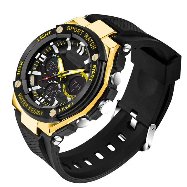 LED Sports Military Watches Shock Automatic waterproof watch Men Fashion Watch top quality clock army wristwatch military shock