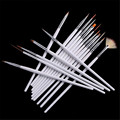 15 pcs/pack Acrylic French Nail Art Liner Painting Drawing Brush Tool Kit  Striping Nail Polish UV Gel Pen Set for Salon Home