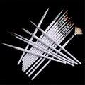 15 unids/pack Acrílico Nail Art Liner Francesa Pintura Dibujo Cepillo Herramienta Kit de Creación de Bandas de Uñas Polaco ULTRAVIOLETA del Gel Pen Set para el Salón de Casa