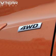 Vtear Car 4WD 2.0 Emblems Car-styling Chrome ABS accessories Stickers decoration for Hyundai creta IX25 Toyota RAV4 2015-2018(China)