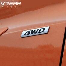 Vtear Car 4WD 2.0 Emblems Car-styling Chrome ABS accessories Stickers decoration for Hyundai creta IX25 Toyota RAV4 2015-2018