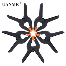 UANME 5PCS/LOT 95mm 3.7 inch A-type Plastic Nylon Adjustable Clamps Spring Clip
