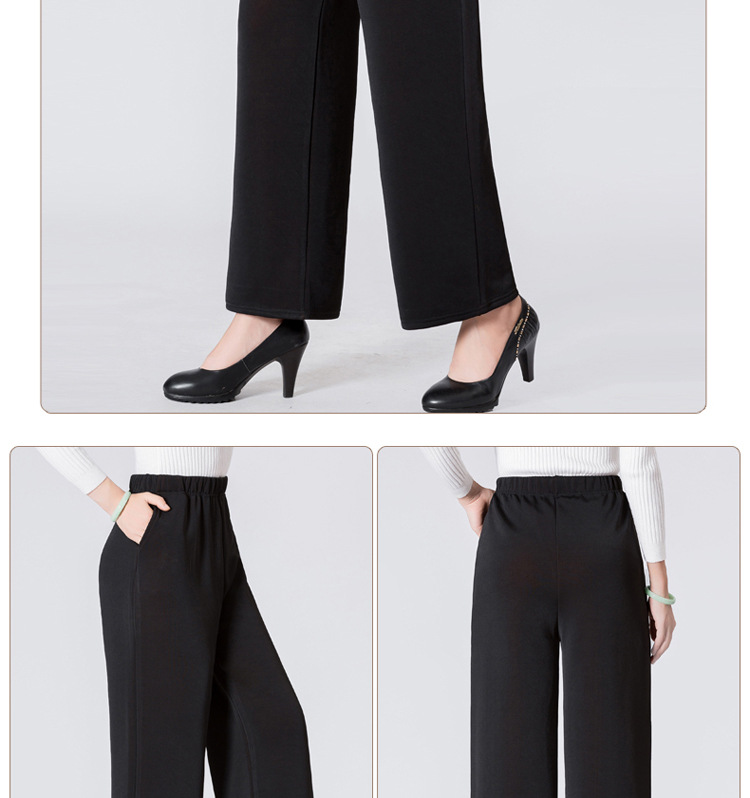 HTB1mg1PaffsK1RjSszbq6AqBXXaH - Winter Warm Long Wide Leg Pants Black Plus Size Pants 5xl Womens Hight Elastic Waist Office Ladies Fleece Loose Midi Trousers