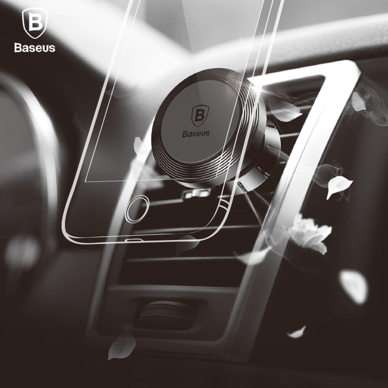 Baseus Aroma Universal Magnetic Phone font b Car b font Holder 360 Rotation air vent mount