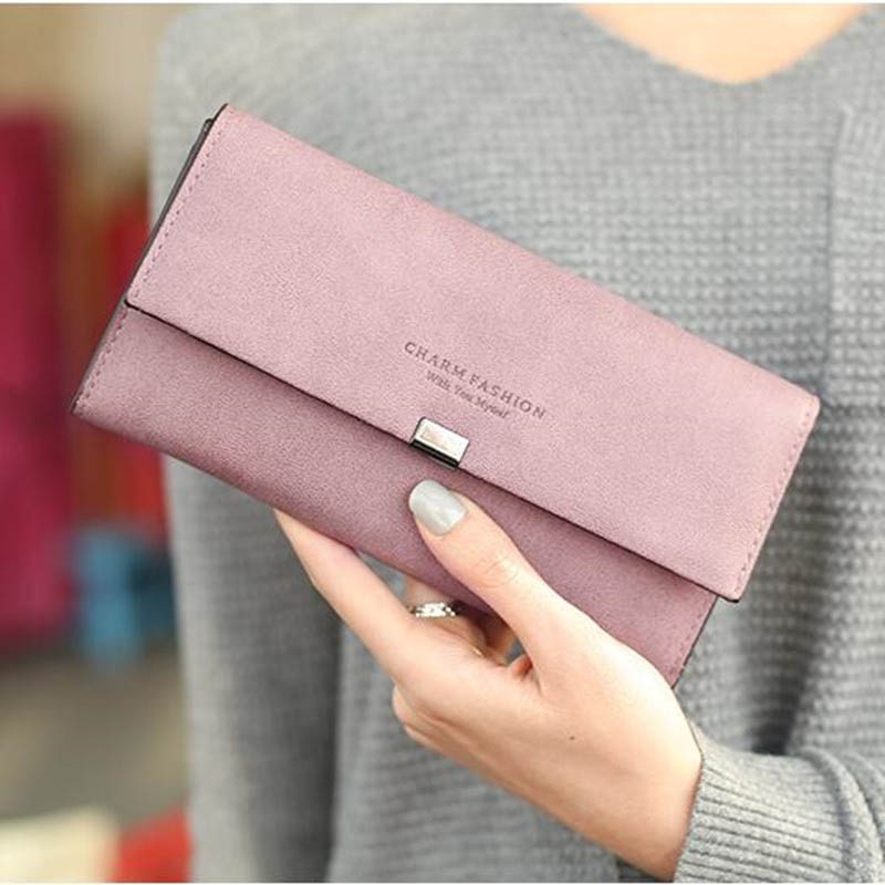New Wallet Women Purse Women's Wallets Long Passport Female Coin Clutch Card Holder Famous Brand Female Purses Lady Clutch Bags 2016 famous brand new men business brown black clutch wallets bags male real leather high capacity long wallet purses handy bags