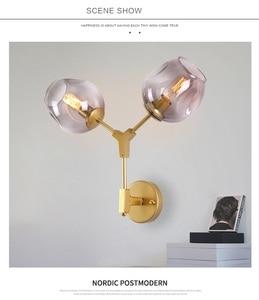 Image 3 - Lámpara de pared LukLoy, lámpara de pared moderna de doble cabeza mágica, candelabro de pared de globos de ADN
