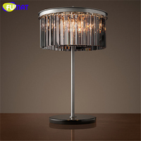 FUMAT Korte Creatieve Mode K9 Crystal Tafellamp Home Deco Metalen Lamp Voor Woonkamer Nachtkastje Loft Kristallen Tafellampen