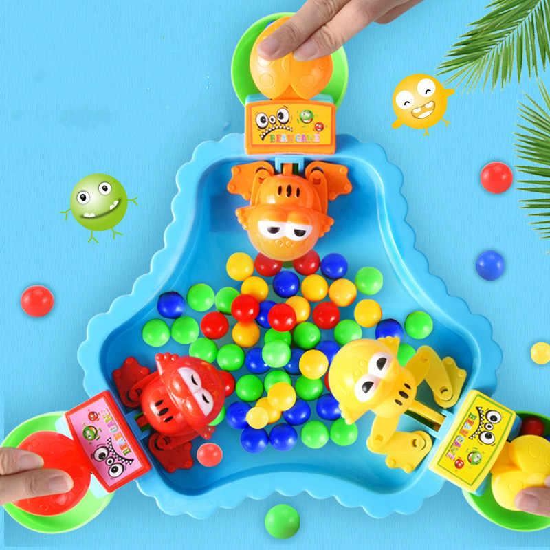 Çocuk eğitici oyuncaklar Küçük kurbağalar eat fasulye ve kapmak boncuk Eğlence beyin masaüstü ebeveyn-çocuk oyunu oyuncaklar dragon topu